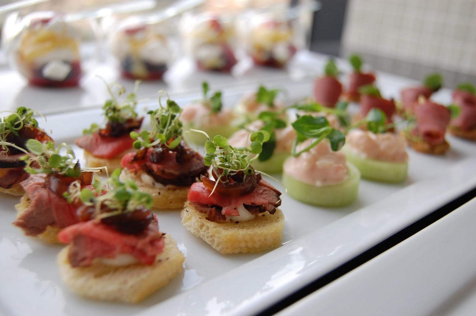 Assorted Canapes Going To The Chapel