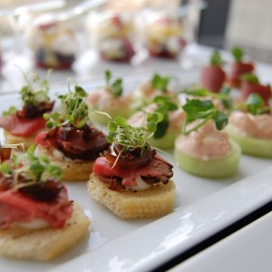 vancouver wedding appetizers canapes hors d'ouevres